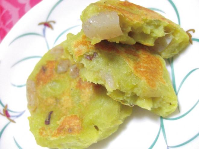 【納豆レシピ】さつま芋とこんにゃくのお焼き