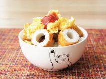 卵と竹輪の納豆ご飯