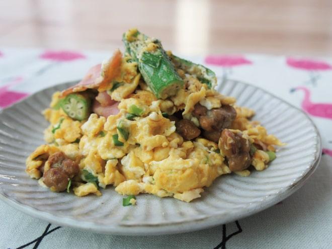 炒め ニラ 卵